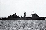 Saudi Arabian replenishment oiler Boraida (902) underway in the Red Sea, in 1991.jpg