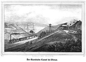 Leipzig–Dresden railway - Oberau Tunnel about 1840