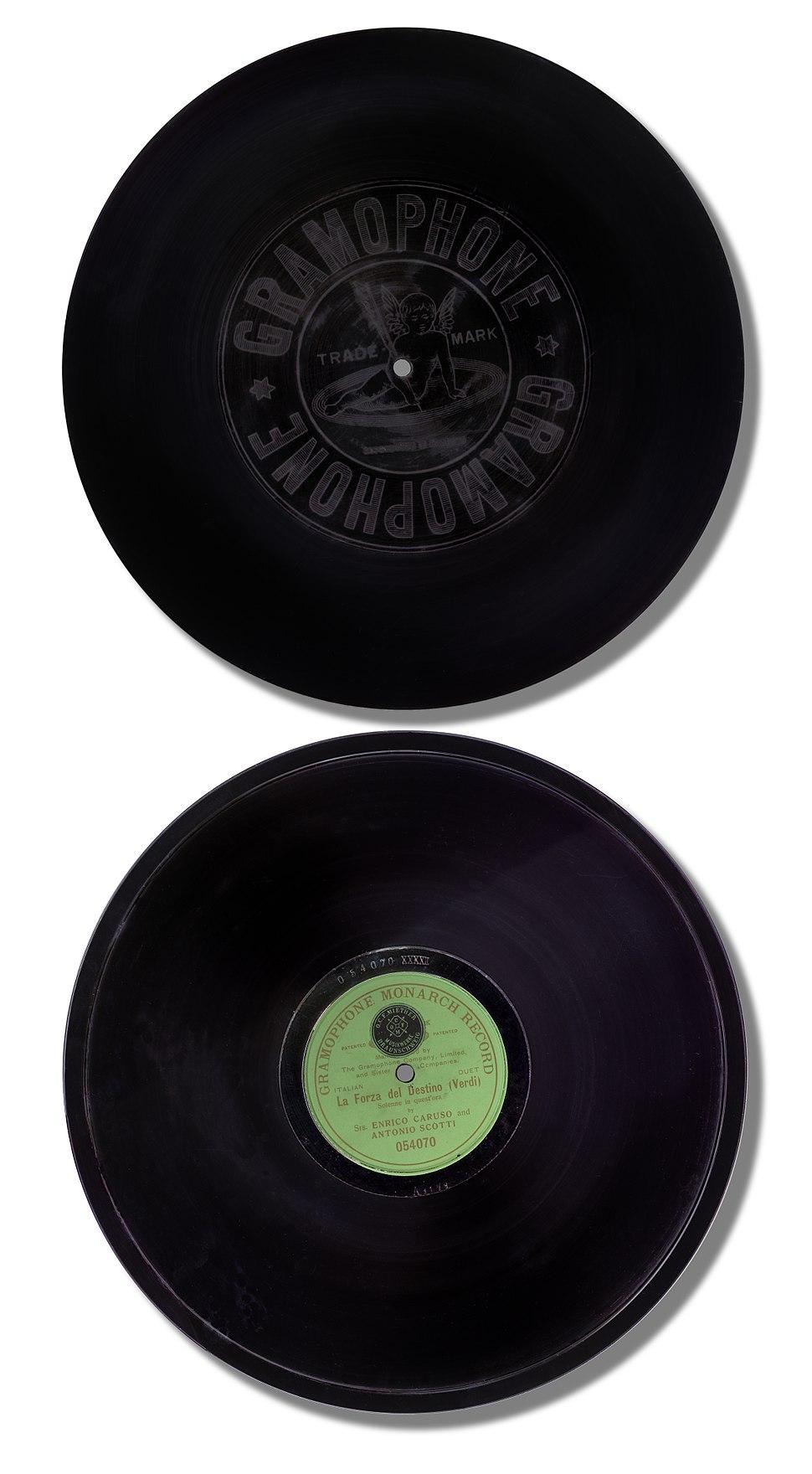 Schellackplatte 1908