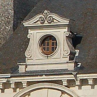 Oeil-de-boeuf - An oeil-de-boeuf window of the Château de Chenonceau, France