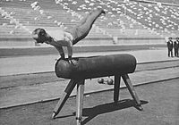 Pommel horse during the 1896 Summer Olympics.