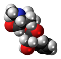 Scopolamine molecule spacefill.png