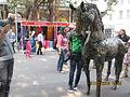 Sculptor at Kala Ghoda Festival..JPG