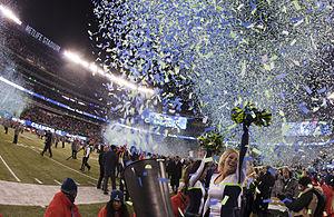 2013 Seattle Seahawks season - The Seattle Seahawks celebrate their Super Bowl XLVIII victory