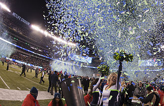 2013 Seattle Seahawks season - The Seattle Seahawks celebrate their Super Bowl XLVIII victory