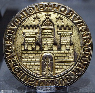 Coat of arms of Hamburg - Image: Seal City of Hamburg 1304