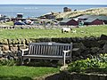 Seat in garden, Manor House Hotel, Holy Island - geograph.org.uk - 1239942.jpg