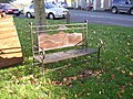 Seat on the green, Hesket Newmarket - geograph.org.uk - 283068.jpg