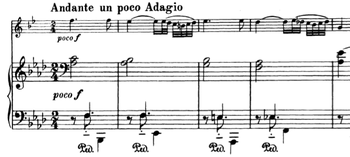 The material from the introduction is seen many times throughout the first movement.