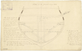 Section at the foremost riding bits to illustrate the method of fixing the trusses to the hold and orlop deck on a two decker warship (no date) RMG J0430.png