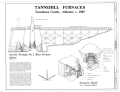 Section through Blast Furnace and Isometric Detail - Tannehill Furnace, 12632 Confederate Parkway, Tannehill Historical State Park, Bucksville, Tuscaloosa County, AL HAER ALA,63-BUCK,2- (sheet 2 of 2).png