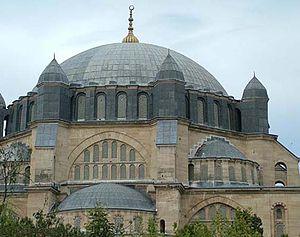 Selimiye Mosque, built by Sinan in 1575. Edirne, Turkey