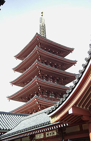 Taitō - The five-storied pagoda at Sensō-ji