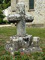 Seraincourt (95), croix devant l'église.JPG
