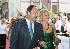 Serhiy Tihipko - Tihipko and spouse Viktoria in July 2010 at the Odessa International Film Festival