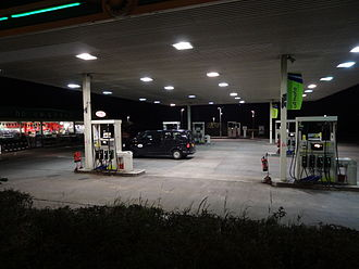 Forecourt - A service station forecourt