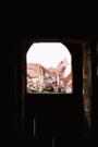 Sesslach Oberfranken Blick aus Turm auf Dorfstr..png