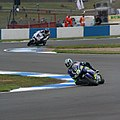 Sete Gibernau and Kenny Roberts Jr. 2005 Donington Park.jpg