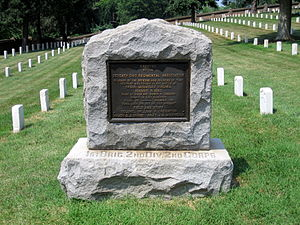 Culpeper National Cemetery - Image: Seventh Ohio Regimental Association Memorial at Culpeper National Cemetery