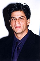 Shah Rukh Khan posing for the camera at the launch of srkworld.com in 2000