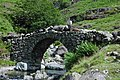 Sheep crossing Lingcove Bridge - geograph.org.uk - 493840.jpg