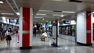 Shopping Park station - Image: Shenzhen Metro Line 1 Shopping Park Sta Platform