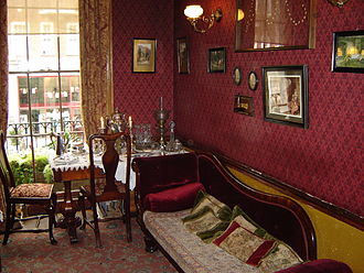 Sherlock Holmes Museum - Sitting room on 1st floor of the museum