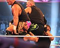 Shield's double Triple Powerbomb at WM30.jpg