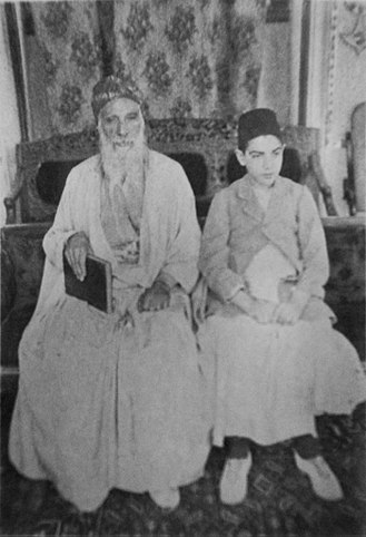 Shimon Agassi - with his son, Ezra Zion, approximately 1910