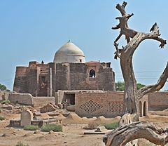 The 12th century shrine of the warrior-saint Khalid Walid is located near Kabirwala