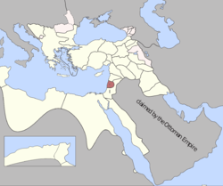 Location of Eyalet of Sidon