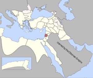 Sidon Eyalet - Sidon Eyalet in 1795