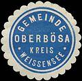 Siegelmarke Gemeinde Oberbösa Kreis Weissensee W0382907.jpg
