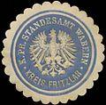 Siegelmarke K.Pr. Standesamt Wabern Kreis Fritzlar W0345951.jpg