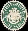 Siegelmarke K. S. Superintendentur Freiberg W0209488.jpg
