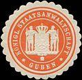 Siegelmarke K. Staatsanwaltschaft Guben W0361463.jpg