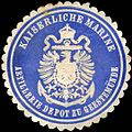 Siegelmarke Kaiserliche Marine - Artillerie Depot zu Geestemünde W0220975.jpg