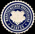 Siegelmarke Marktgemeinde - Vorstehung - Werfen W0245563.jpg