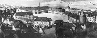 Nassau-Siegen - The Lower Castle at Siegen in the 18th century