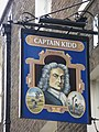 Sign for The Captain Kidd, Wapping High Street, E1 (geograph 2720398).jpg