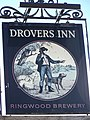 Sign for the Drovers Inn, Gussage All Saints - geograph.org.uk - 762144.jpg