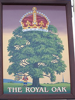 Sign for the Royal Oak - geograph.org.uk - 918397