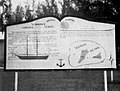 Sign on Midway Atoll, describing the 1886 shipwreck of the schooner General Siegel, in 1956.jpg