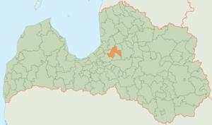 Sigulda Municipality - Image: Siguldas novada karte