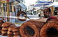 Simit vendor next to checkpoint, Nicosia.jpg