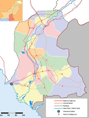 Sindhudesh - Map of Sindh