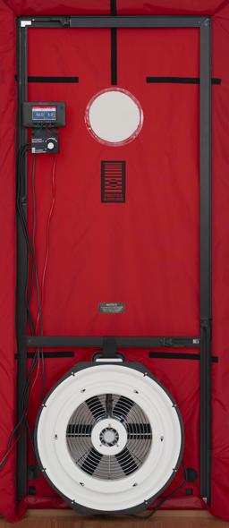 Single fan blower door system