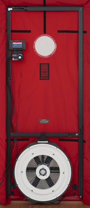 Blower door - Single fan blower door system