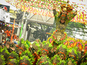 Sinulog - One of the participating dancing contingents of the Sinulog Festival