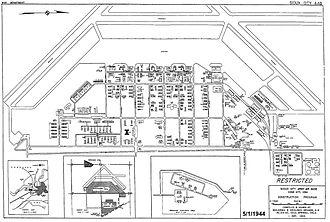 Sioux City Air National Guard Base - 1944 Airfield Diagram